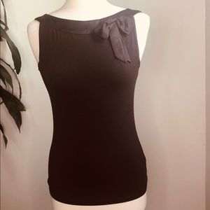 Express women's brown fitted tank